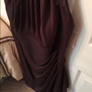 David's Bridal Dresses - Ruffly truffle colored bridal dress